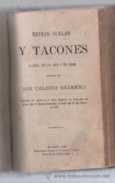 Libros de segunda mano: COMEDIAS. VARIAS OBRAS DE VARIOS AUTORES RECOGIDAS EN ESTE TOMO. IMP. JOSE RODRIGUEZ, MADRID. LEER - Foto 8 - 50930001
