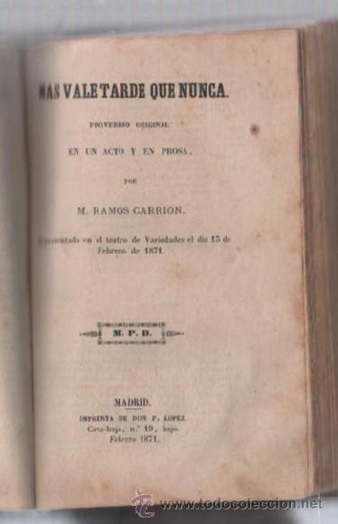 Libros de segunda mano: COMEDIAS. VARIAS OBRAS DE VARIOS AUTORES RECOGIDAS EN ESTE TOMO. IMP. JOSE RODRIGUEZ, MADRID. LEER - Foto 9 - 50930001