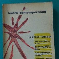 Libros de segunda mano: TEATRO CONTEMPORÁNEO. TEATRO SUECO. AGUILAR 1960. 425 PÁGINAS. INTONSO. 19,5 X 13 CM.. Lote 51047741