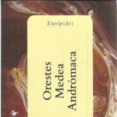 Libros de segunda mano: ORESTES. MEDEA. ANDRÓMACA. EURÍPIDES. ESPASA. MADRID. 2001. Lote 51137000