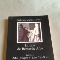 Libros de segunda mano - la casa de Bernarda Alba Federico García Lorca. cátedra. - 51215184