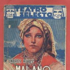 Libros de segunda mano: MAL AÑO DE LOBOS-COMEDIA EN TRES ACTOS Y EN PROSA-MANUEL LINARES RIVAS-AÑO 1943-PAGINAS 64-LTEA550. Lote 51590984