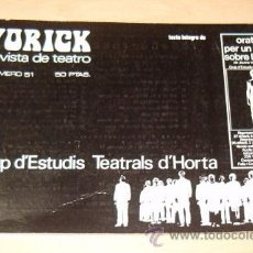 Libros de segunda mano: ANTONIO PLAJA MATEU. YURICH. REVISTA DE TEATRO. Nº51 ENERO – MARZO 1972. RM71506. . Lote 51597785