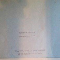 Libros de segunda mano: POEMARÍO INEDITO ESCRITO A MAQUINA Y FIRMADO DE SANTIAGO GALLEGO GARRIDO. Lote 68575507