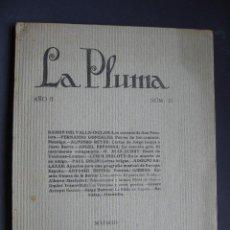 Libros de segunda mano: LA PLUMA. 1921. VALLE-INCLÁN. LOS CUERNOS DE DON FRIOLERA. PRIMERA EDICIÓN DE LAS ESCENAS 5 A 7. Lote 51706397