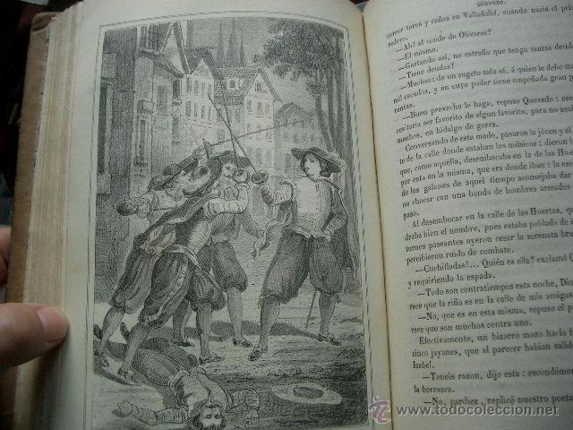 Libros de segunda mano: Quevedo,. Mocedades de Quevedo . D. Francisco J. Orellana.1860 Segunda edición. numerosas litografia - Foto 4 - 51735429