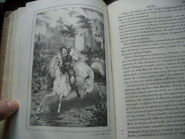 Libros de segunda mano: Quevedo,. Mocedades de Quevedo . D. Francisco J. Orellana.1860 Segunda edición. numerosas litografia - Foto 11 - 51735429
