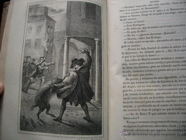 Libros de segunda mano: Quevedo,. Mocedades de Quevedo . D. Francisco J. Orellana.1860 Segunda edición. numerosas litografia - Foto 18 - 51735429
