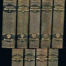 Libros de segunda mano: OBRAS COMPLETAS JACINTO BENAVENTE (9 TOMOS). Lote 51764912