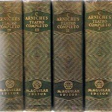 Libros de segunda mano: TEATRO COMPLETO CARLOS ARNICHES 1ª EDICIÓN AÑO 1948 ( 4 TOMOS). Lote 113295742