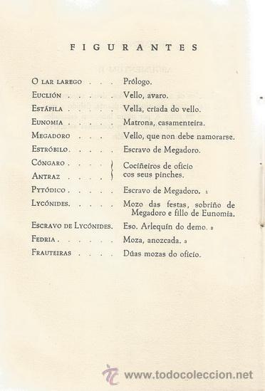 Libros de segunda mano: T. M. PLAUTO. A comedia da oliña. Aulularia. RM71906. - Foto 4 - 52550352