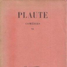 Libros de segunda mano: PLAUTE. COMÉDIES. VI. RM71926. . Lote 52552027