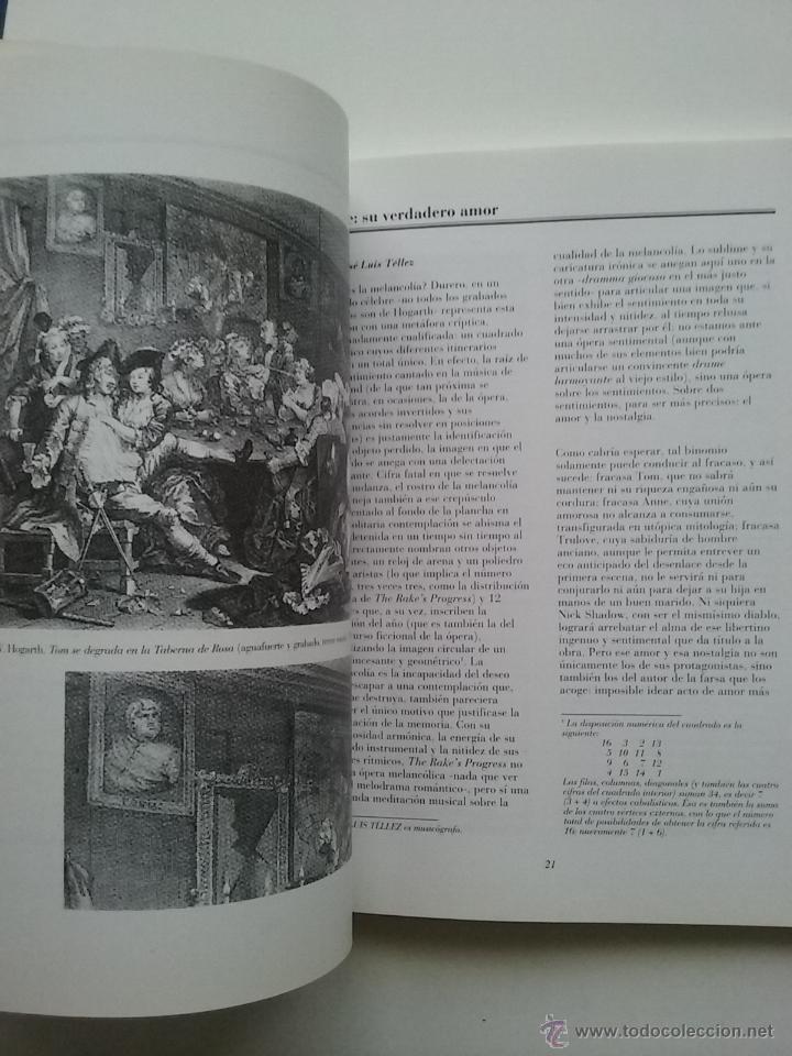 Libros de segunda mano: THE RAKE S PROGRESS ( LA CARRERA DEL LIBERTINO ) - TEATRO - MUSICA IGOR STRAVINSKY LIBRETO - Foto 7 - 53172096