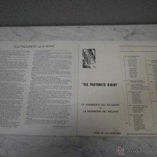 Libros de segunda mano: ELS PASTURETS D´OLOT - 1977 - TEATRE PRINCIPAL - NACIMIENTO DEL SALVADOR - CENTRE CATOLIG OLOT. Lote 53616474