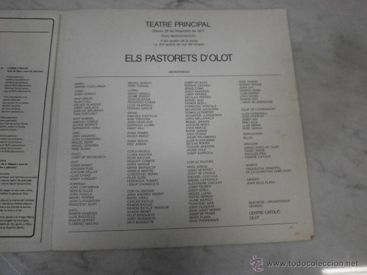 Libros de segunda mano: Els Pasturets d´Olot - 1977 - Teatre Principal - Nacimiento del Salvador - Centre Catolig Olot - Foto 4 - 53616474
