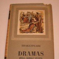 Libros de segunda mano: WILLIAM SHAKESPEARE. DRAMAS: OTELO. ROMEO Y JULIETA. CIMBELINA. CORIOLANO. RM72702. . Lote 53725290