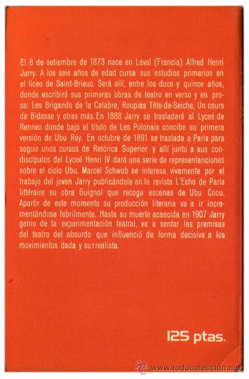 Libros de segunda mano: Alfred Jarry - Ubu Rey (Ubu Roi) - Prod. Editoriales, Star Books 8 - (1ª Ed. 1976) - Foto 2 - 53848888