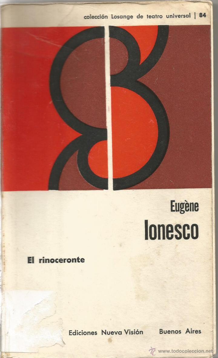 Eugene ionesco el rinoceronte ediciones nueva vision libros de segunda mano posteriores