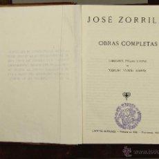 Libros de segunda mano: 6928 - OBRAS COMPLETAS,2 TOMOS. JOSÉ ZORRILLA. LIBRERIA SANTARÉN. 1943.. Lote 51926603