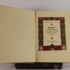 Libros de segunda mano: D-537. HAMLET PRINCE OF DENMARK. WILLIAM SHAKESPEARE. EDIT. REINHOLD WETZIG. 1930.. Lote 47800315