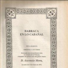 Libros de segunda mano: == RR165 - BARRACA EN LO CABAÑAL - PIEZA BILINGUE ORIGINAL Y EN VERSO - EDUARDO ESCALANTE. Lote 54839867
