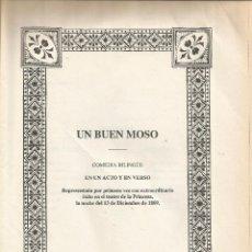 Libros de segunda mano: ** HR194 - UN BUEN MOSO - COMEDIA BILINGUE EN UN ACTO Y EN VERSO. Lote 54840065