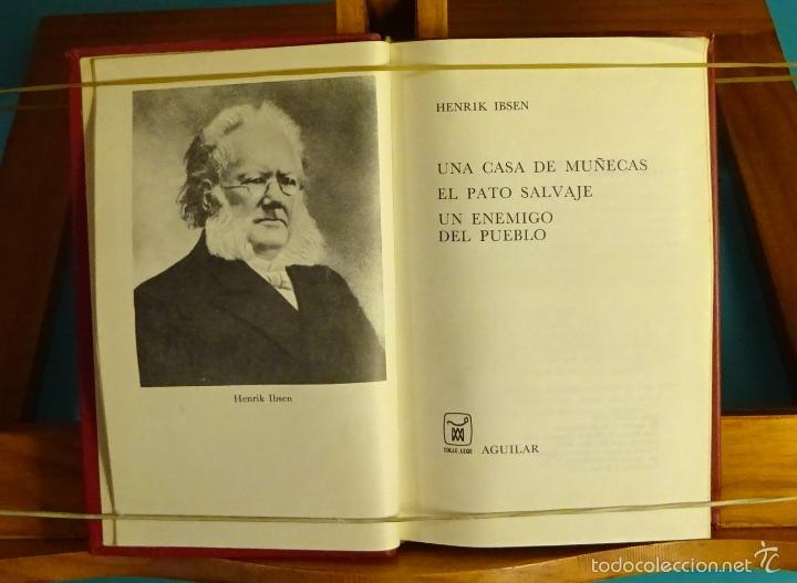 UNA CASA DE MUÑECAS. EL PATO SALVAJE, UN ENEMIGO DEL PUEBLO. HENRIK IBSEN (Libros de Segunda Mano (posteriores a 1936) - Literatura - Teatro)