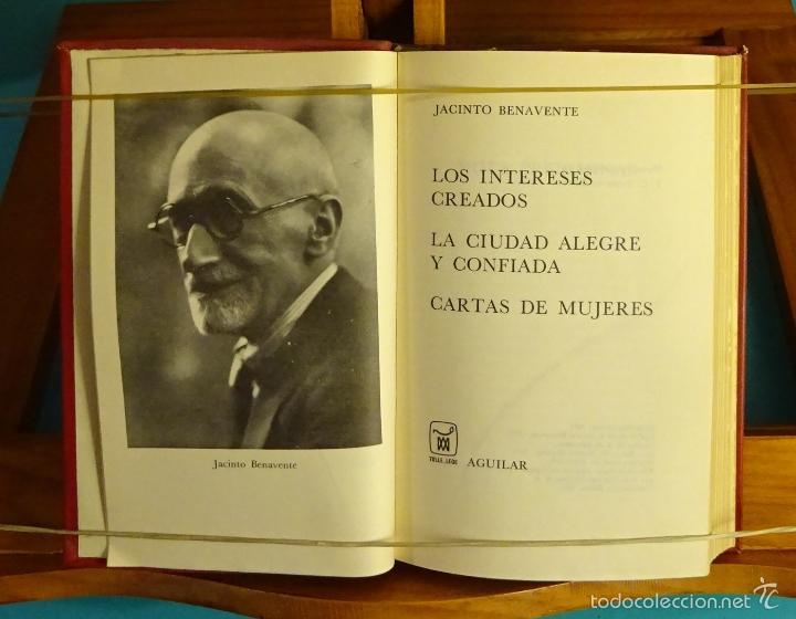 LOS INTERESES CREADOS. LA CIUDAD ALEGRE Y CONFIADA. CARTAS DE MUJERES. JACINTO BENAVENTE (Libros de Segunda Mano (posteriores a 1936) - Literatura - Teatro)