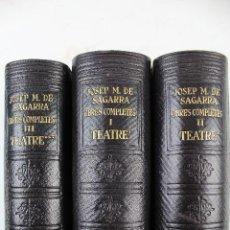 Libros de segunda mano: L-3567. JOSEP M. DE SAGARRA.OBRES COMPLETES. TEATRE. 3 LLIBRES. PELL. PRIMERA EDICIÓ. ANY 1948. Lote 56273268