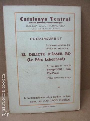 Libros de segunda mano: Senyor Ninot - CATALUNYA TEATRAL, nº 100 - 1936 - Escofet i Blanch - Firmado por ESCOFET (ver foto) - Foto 6 - 56324251