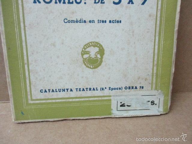 Libros de segunda mano: ROMEU DE 5 A 9, - Valenti Moragas Romer i Lluís Elias - 1957 - Foto 2 - 56325951