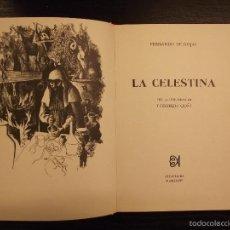 Libros de segunda mano: LA CELESTINA, FERNADO DE ROJAS, ALFAGUARA, 1974, 19 LITOGRAFIAS LORENZO GOÑI. Lote 56740108