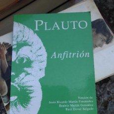 Libros de segunda mano: LIBRO ANFITRIÓN PLAUTO 1994 ED. CLÁSICAS L-9601-30. Lote 56868854