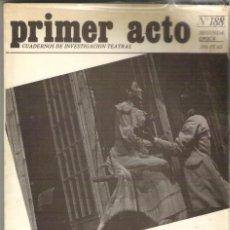 Libros de segunda mano: 1 LIBRO TEATRO AÑO 1981 - PRIMER ACTO CUADERNOS DE INVESTIGACION TEATRAL - Nº 188. Lote 56902542