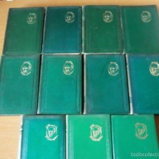 Libros de segunda mano: OBRAS COMPLETAS DE JACINTO BENAVENTE. M. AGUILAR. ONCE TOMOS. Lote 56924430