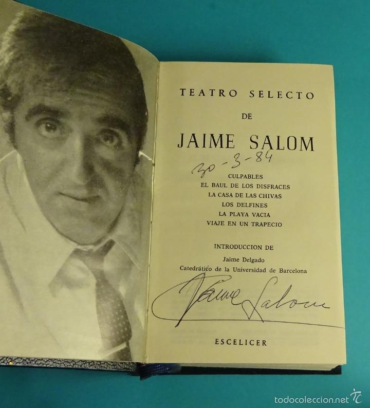 Libros de segunda mano: TEATRO SELECTO DE JAIME SALOM - Foto 3 - 57269656