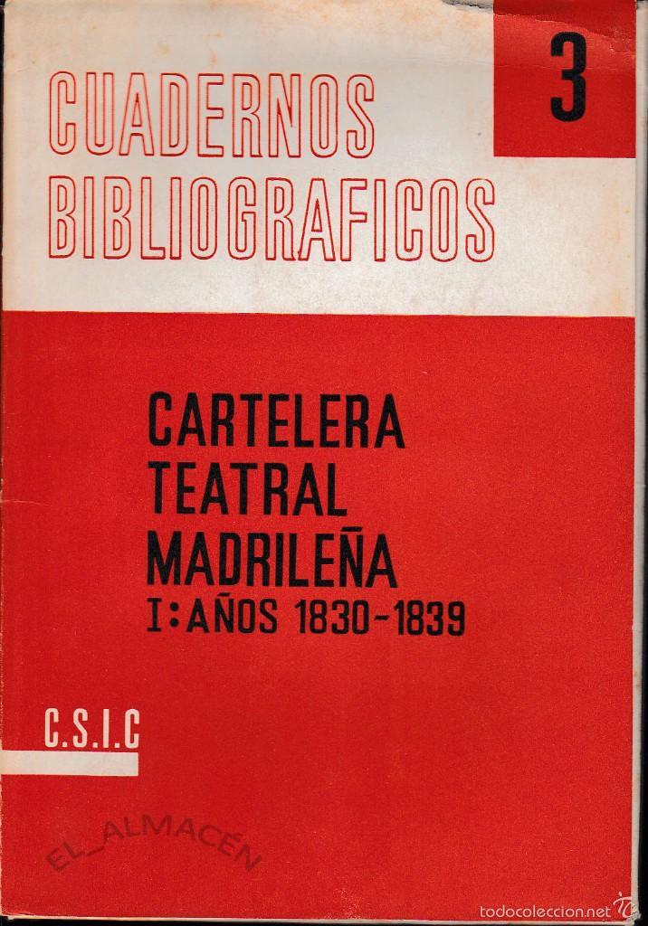 CARTELERA TEATRAL MADRILEÑA. 2 CARPETAS ( C.S.I.C. 1961-63) SIN USAR (Libros de Segunda Mano (posteriores a 1936) - Literatura - Teatro)