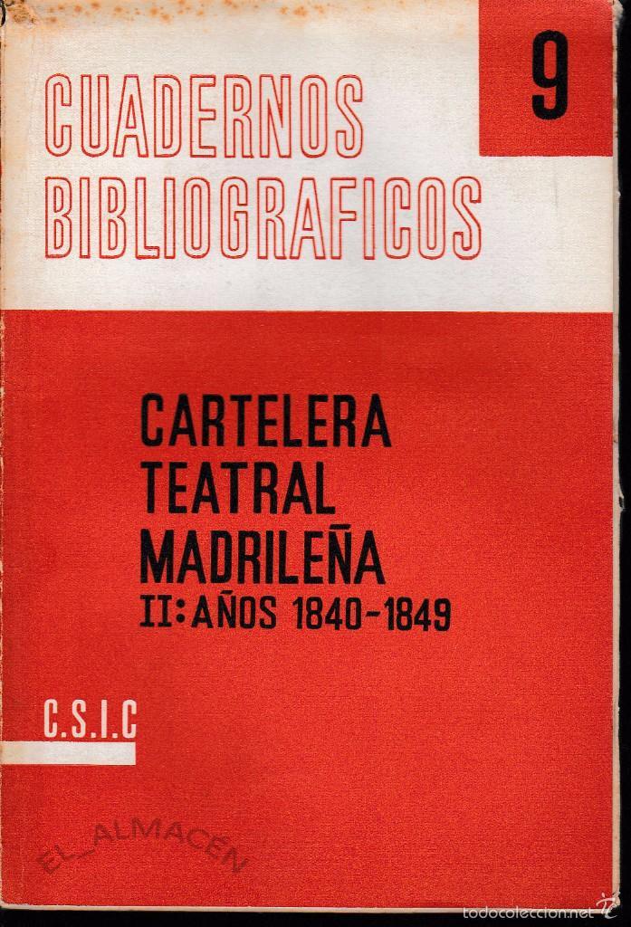 Libros de segunda mano: CARTELERA TEATRAL MADRILEÑA. 2 CARPETAS ( C.S.I.C. 1961-63) SIN USAR - Foto 2 - 198764192