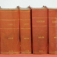 Libros de segunda mano: 7754 - LICEO. VARIAS TEMPORADAS. LOTE DE 8 TOMOS. (VER DESCRIP). EDI. M. F. R. 1947/1954.. Lote 57908097