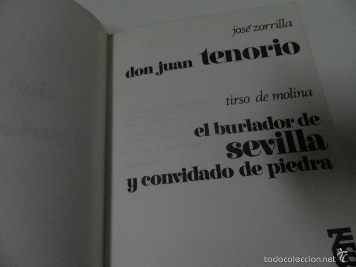 Libros de segunda mano: DON JUAN TENORIO Y EL BURLADOR DE SEVILLA , ZORRILA Y T. MOLINA 1968 ,EDICIONES ZEUS. - Foto 3 - 58450701