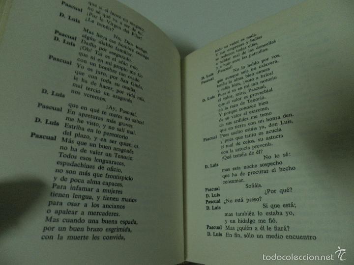 Libros de segunda mano: DON JUAN TENORIO Y EL BURLADOR DE SEVILLA , ZORRILA Y T. MOLINA 1968 ,EDICIONES ZEUS. - Foto 4 - 58450701