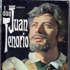Libros de segunda mano: FOTO TEATRO Nº 1 DON JUAN TENORIO JOSE ZORRILLA VERSIÓN LIBRE. EDITORIAL ROLLAN 1968. Lote 61658848