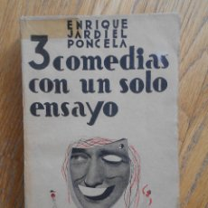 Libros de segunda mano: 3 COMEDIAS CON UN SOLO ENSAYO, ENRIQUE JARDIEL PONCELA, BIBLIOTECA NUEVA. Lote 63273792