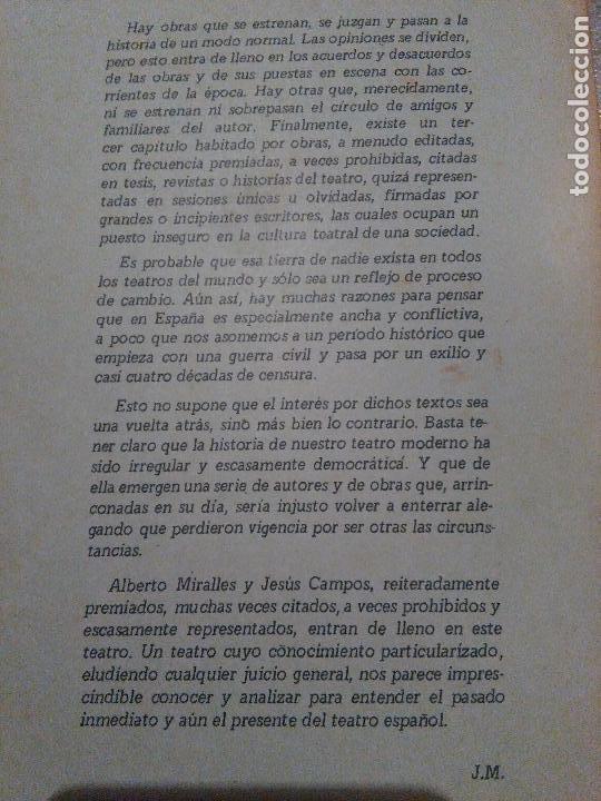 Libros de segunda mano: TEATRO DE OPOSICION I. ALBERTO MIRALLES. JESUS CAMPOS - Foto 2 - 64835079