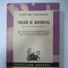 Libros de segunda mano: TABLADO DE MARIONETAS. RAMÓN DEL VALLE-INCLÁN. COLECCION AUSTRAL. Nº1315. 1961. Lote 67081197