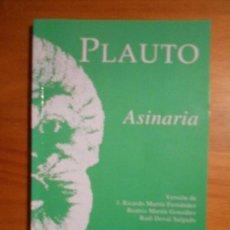 Libros de segunda mano: ASINARIA - PLAUTO - EDICIONES CLASICAS (I2). Lote 68680273