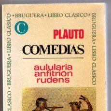 Second hand books - COMEDIAS. AULULARIA. ANFITRION. RUDENS. PLAUTO. BRUGUERA. 1968.. - 68716581