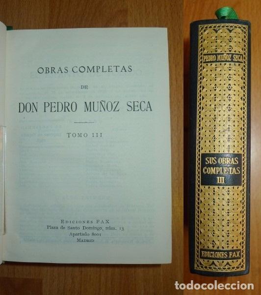MUÑOZ SECA, PEDRO. OBRAS COMPLETAS DE DON PEDRO MUÑOZ SECA. TOMO III (Libros de Segunda Mano (posteriores a 1936) - Literatura - Teatro)