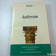 Libros de segunda mano: PLAUTO-ANFITRION-MARIA DEL ANGEL MESO RUBIO-N. Lote 74083511