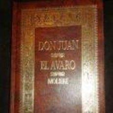 Libros de segunda mano: DON JUAN / EL AVARO -TEATRO-MOLIERE. TAPAS DURAS-EDITORIAL FOLIO. Lote 74085331